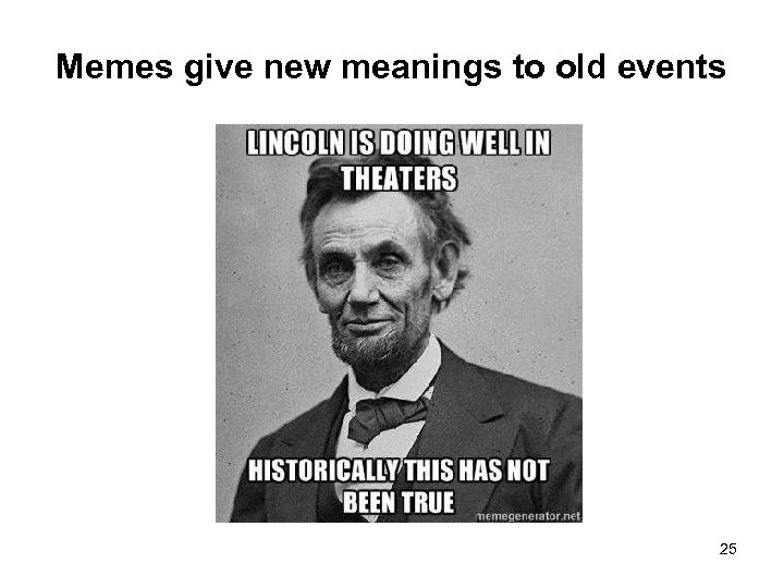Memes give new meanings to old events 25