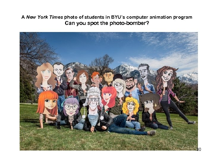 A New York Times photo of students in BYU's computer animation program Can you