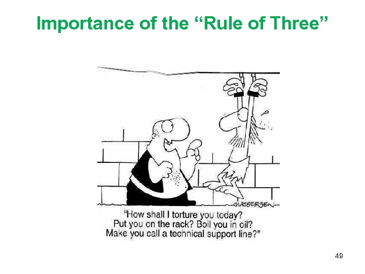 """Importance of the """"Rule of Three"""" 49"""