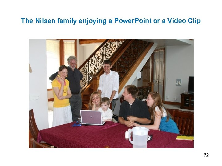 The Nilsen family enjoying a Power. Point or a Video Clip 52