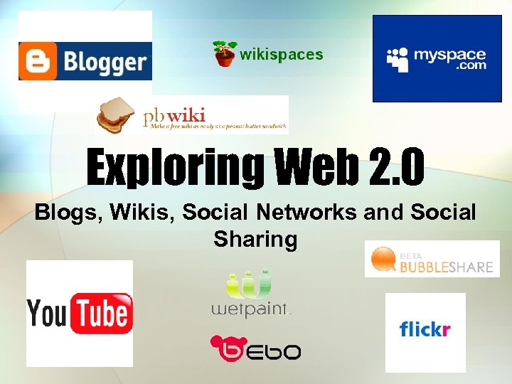 Exploring Web 2. 0 Blogs, Wikis, Social Networks and Social Sharing