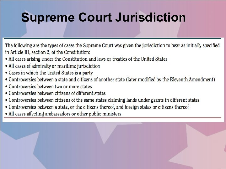 Supreme Court Jurisdiction