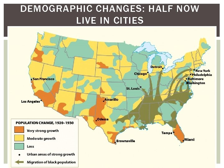 DEMOGRAPHIC CHANGES: HALF NOW LIVE IN CITIES