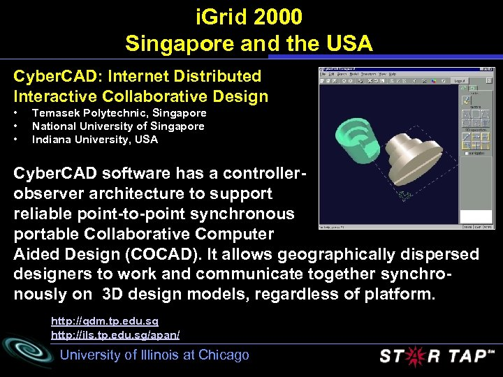 i. Grid 2000 Singapore and the USA Cyber. CAD: Internet Distributed Interactive Collaborative Design