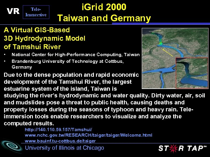 VR Tele. Immersive i. Grid 2000 Taiwan and Germany A Virtual GIS-Based 3 D
