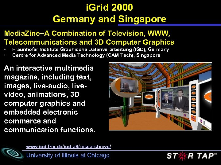 i. Grid 2000 Germany and Singapore Media. Zine A Combination of Television, WWW, Telecommunications