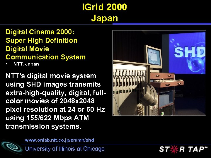 i. Grid 2000 Japan Digital Cinema 2000: Super High Definition Digital Movie Communication System