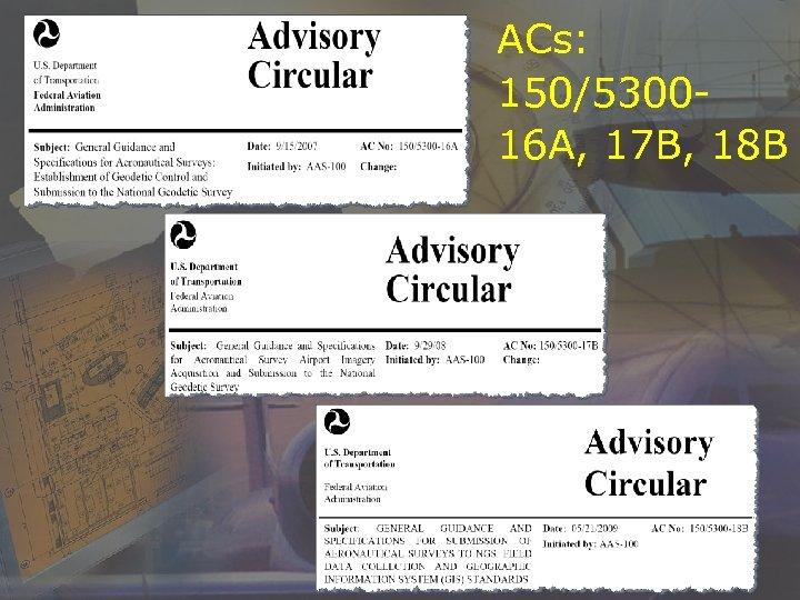 ACs: 150/530016 A, 17 B, 18 B
