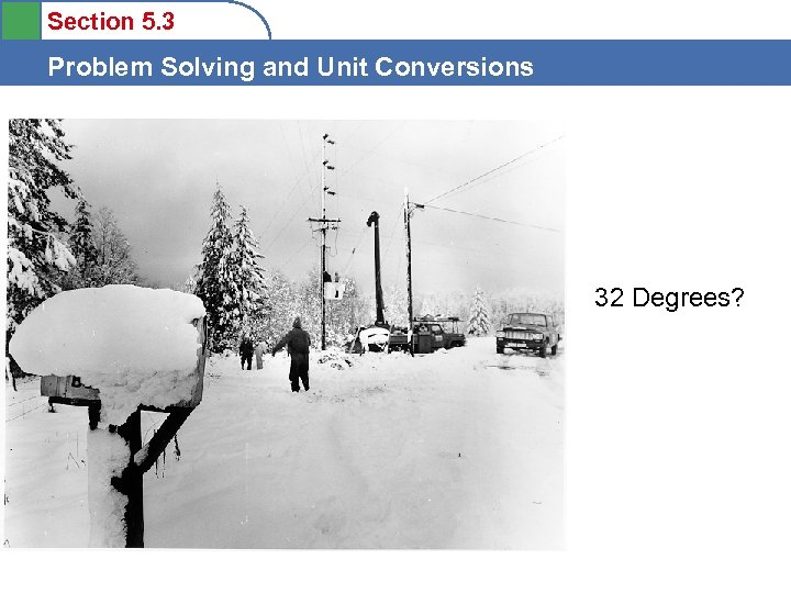 Section 5. 3 Problem Solving and Unit Conversions 32 Degrees?