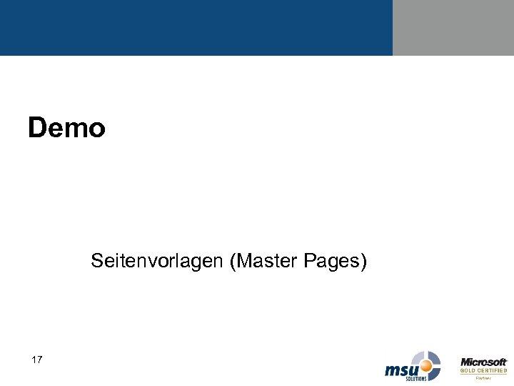 Demo Seitenvorlagen (Master Pages) 17