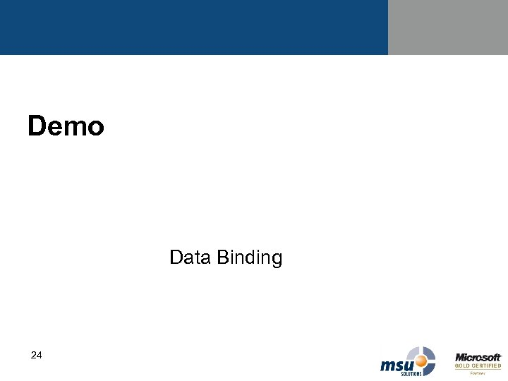 Demo Data Binding 24