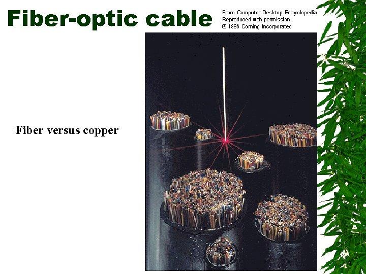 Fiber-optic cable Fiber versus copper