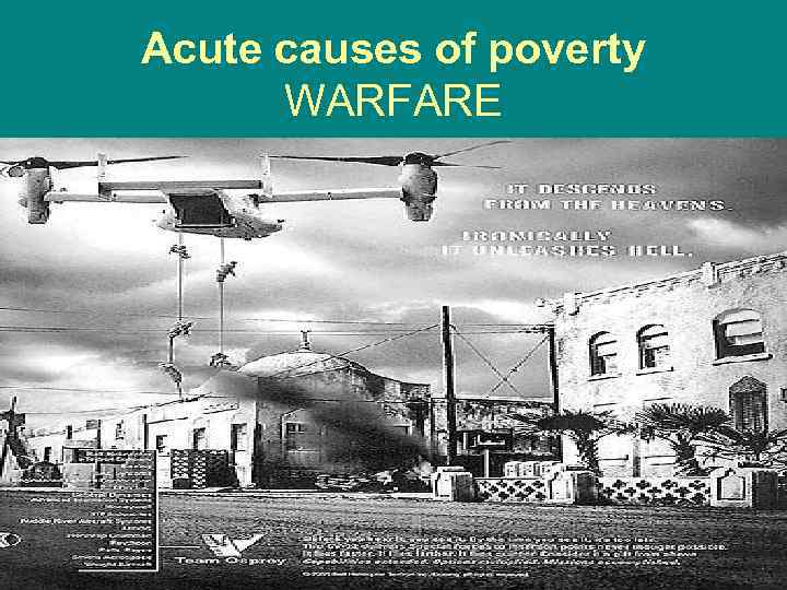 Acute causes of poverty WARFARE