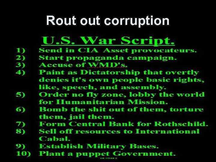 Rout corruption