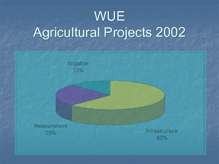 WUE Agricultural Projects 2002