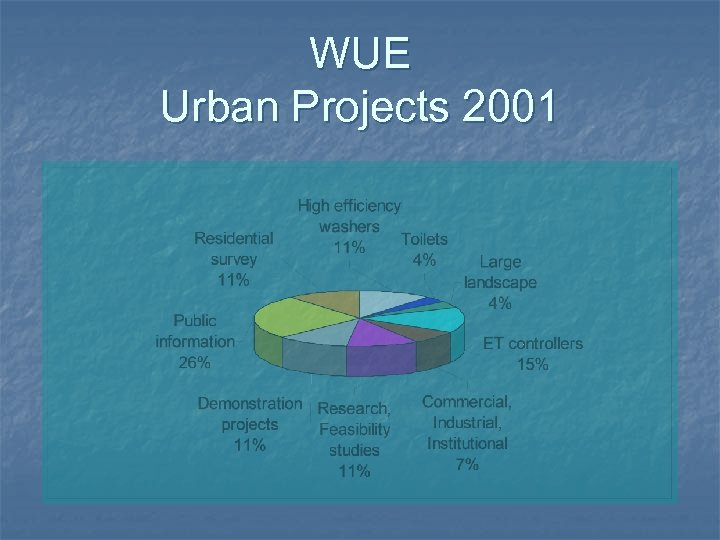 WUE Urban Projects 2001