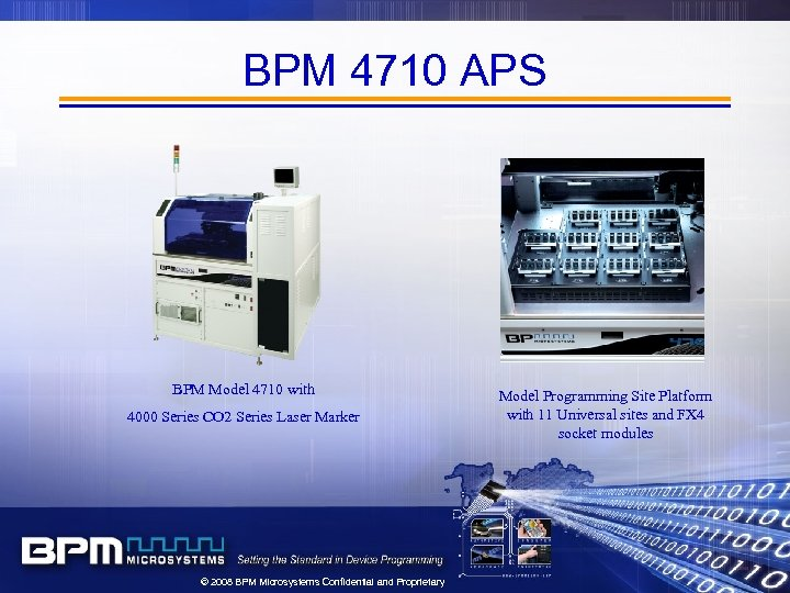 BPM 4710 APS BPM Model 4710 with 4000 Series CO 2 Series Laser Marker