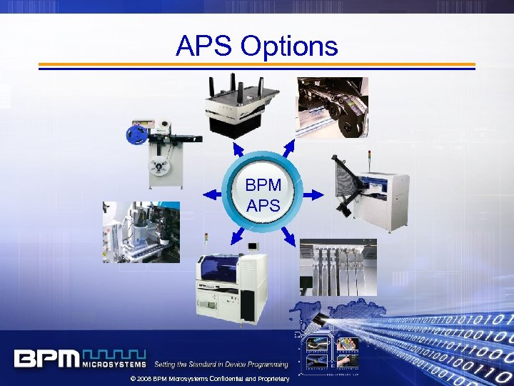 APS Options BPM APS © 2008 BPM Microsystems Confidential and Proprietary