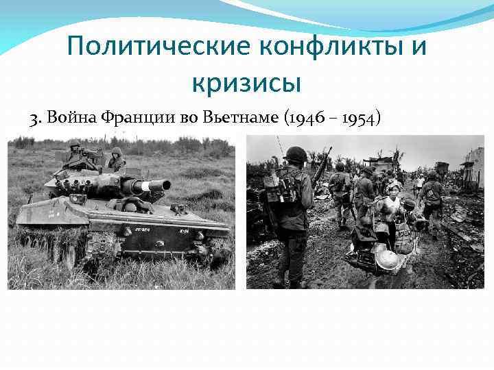 Политические конфликты и кризисы 3. Война Франции во Вьетнаме (1946 – 1954)