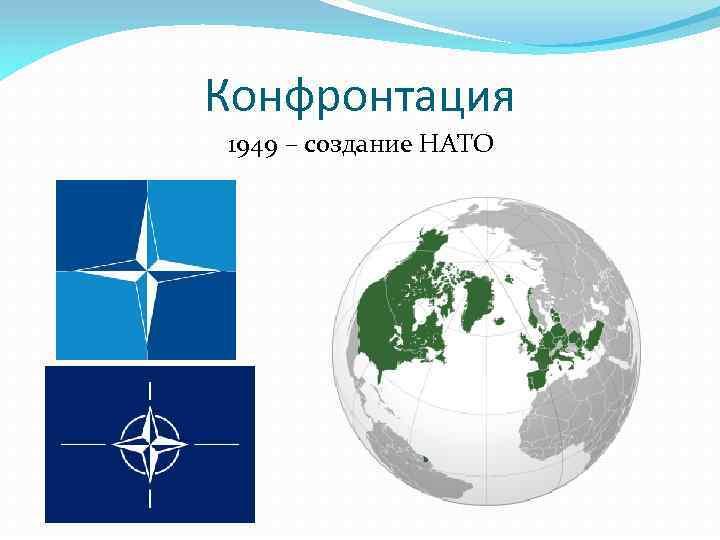 Конфронтация 1949 – создание НАТО