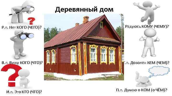 Деревянный дом Р. п. Нет КОГО (ЧЕГО)? В. п. Вижу КОГО (ЧТО)? И. п.