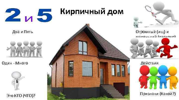 Кирпичный дом Два и Пять Один - Много Это КТО (ЧТО)? Огромный (ищ) и