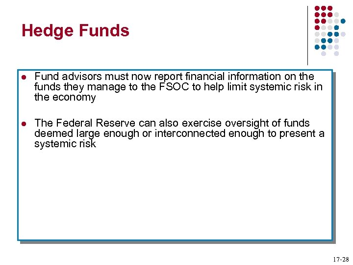 Hedge Funds l Fund advisors must now report financial information on the funds they