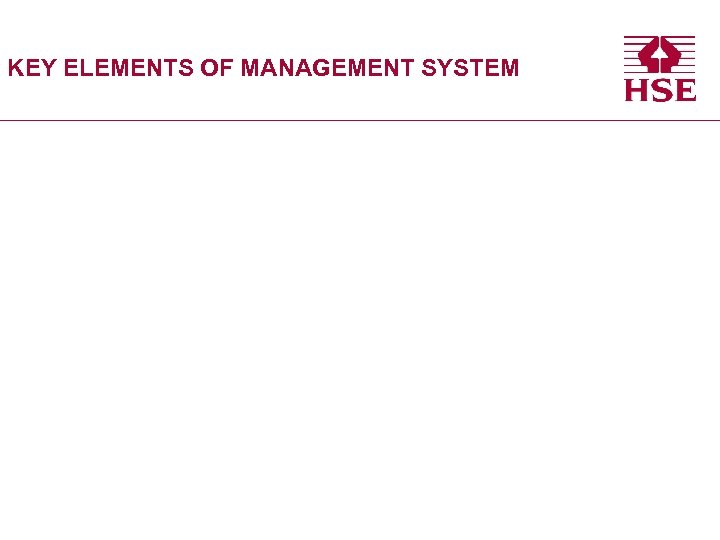 KEY ELEMENTS OF MANAGEMENT SYSTEM