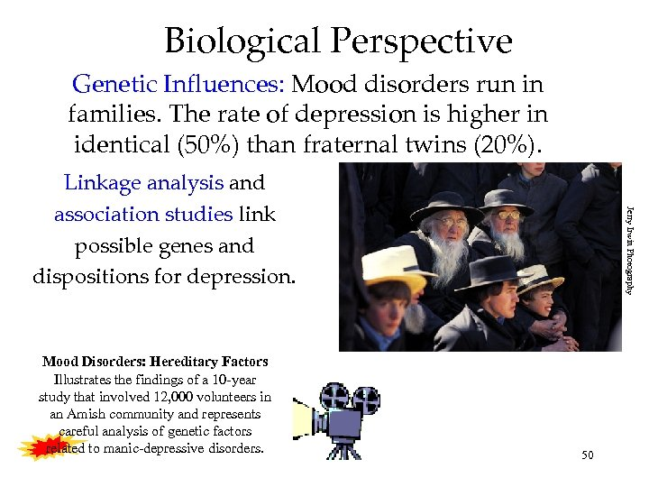 Biological Perspective Genetic Influences: Mood disorders run in families. The rate of depression is
