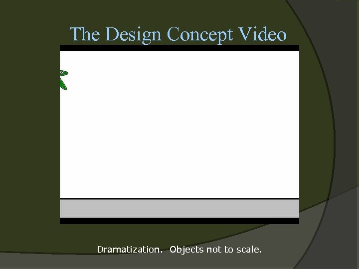The Design Concept Video Dramatization. Objects not to scale.