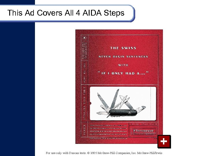 This Ad Covers All 4 AIDA Steps + For use only with Duncan texts.