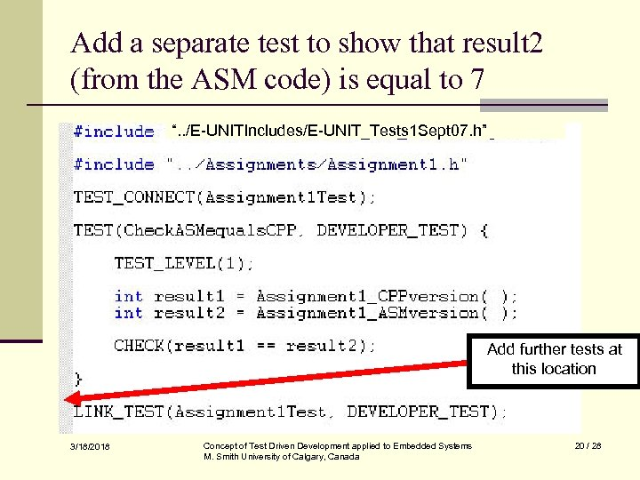 Add a separate test to show that result 2 (from the ASM code) is