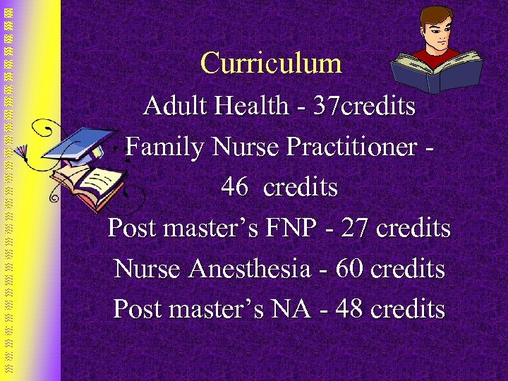 Curriculum Adult Health - 37 credits Family Nurse Practitioner - 46 credits Post master's