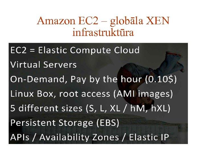 Amazon EC 2 – globāla XEN infrastruktūra