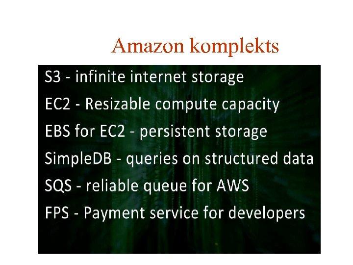 Amazon komplekts