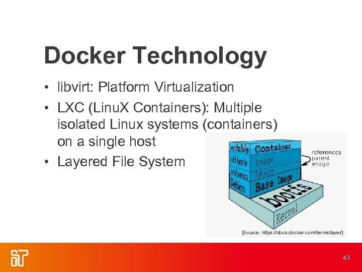 Docker Technology • libvirt: Platform Virtualization • LXC (Linu. X Containers): Multiple isolated Linux
