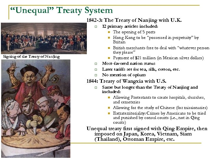 """""""Unequal"""" Treaty System 1842 -3: The Treaty of Nanjing with U. K. q Signing"""