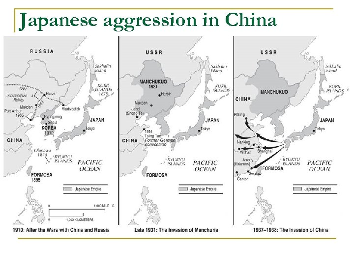 Japanese aggression in China
