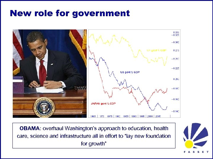 New role for government OBAMA: overhaul Washington's approach to education, health care, science and