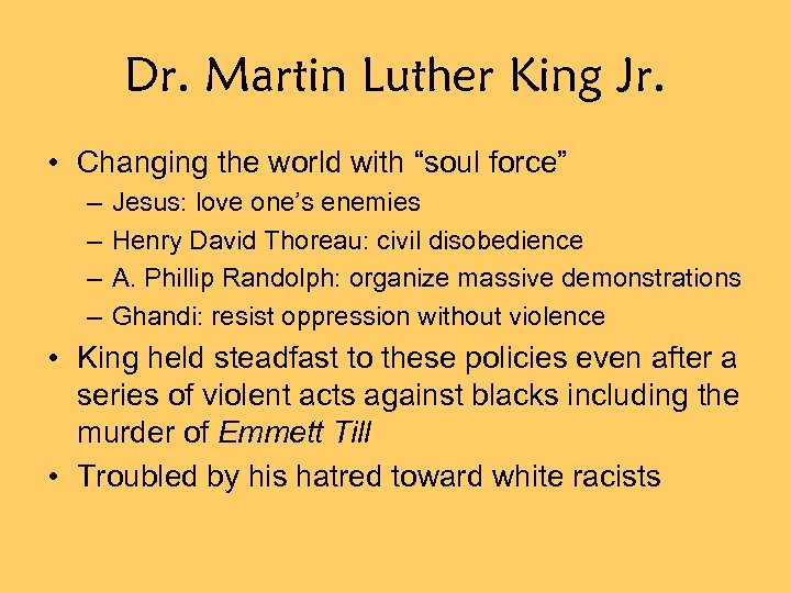 "Dr. Martin Luther King Jr. • Changing the world with ""soul force"" – –"