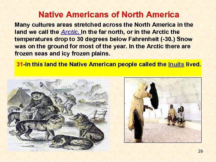 Native Americans of North America Many cultures areas stretched across the North America in