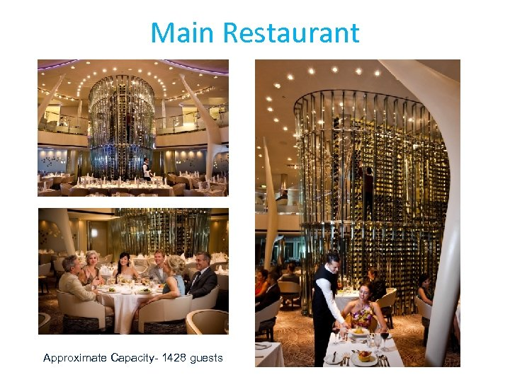 Main Restaurant Approximate Capacity- 1428 guests