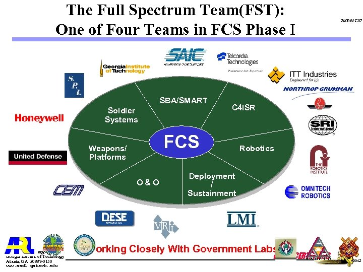The Full Spectrum Team(FST): One of Four Teams in FCS Phase I SBA/SMART Soldier