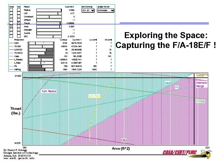 Horiz Vert Factor Current X Radius 0. 964 ULF Grid Density Update Mode 20