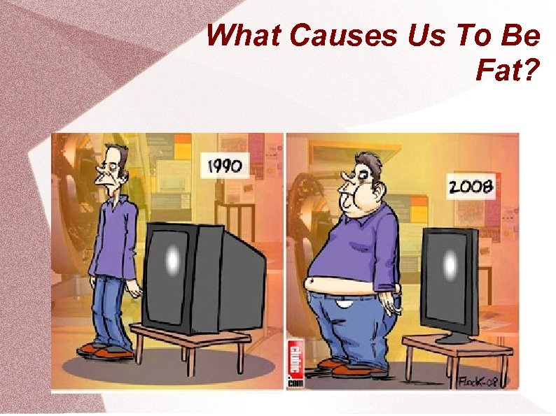 What Causes Us To Be Fat?