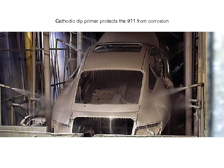 Cathodic dip primer protects the 911 from corrosion