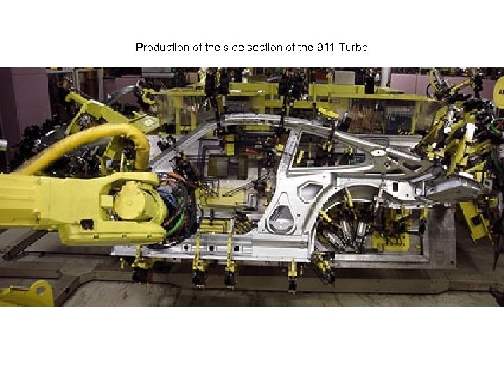 Production of the side section of the 911 Turbo