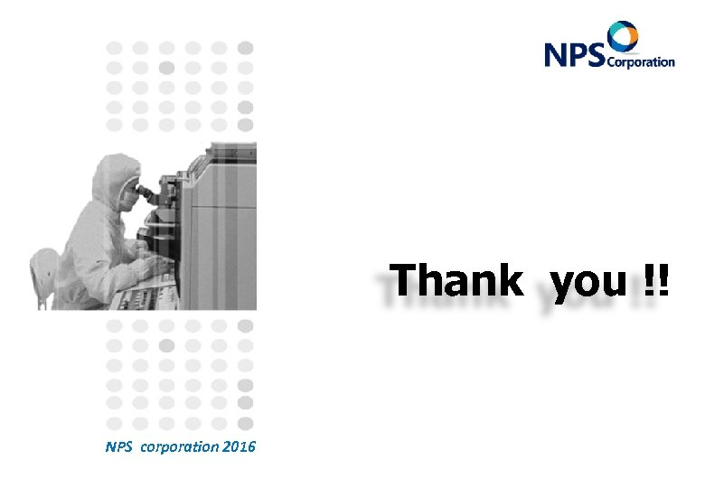 Thank you !! NPS corporation 2016