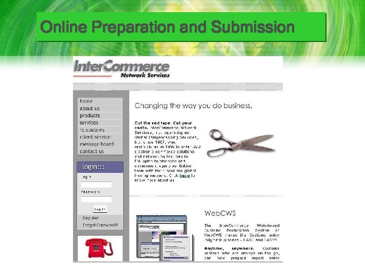 Online Preparation and Submission