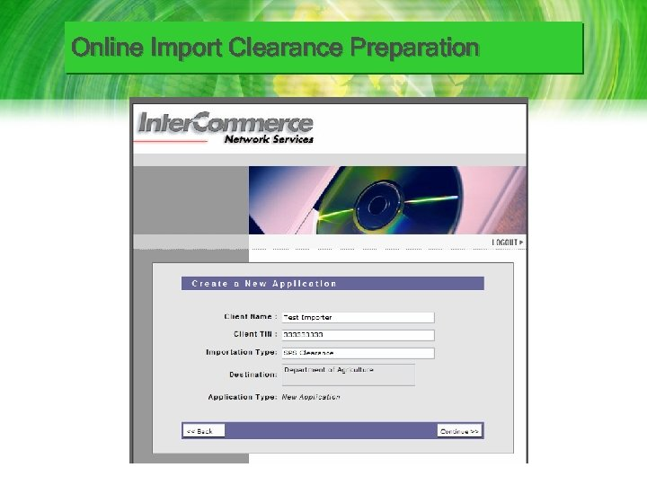 Online Import Clearance Preparation